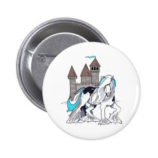 HORSE AND CASTLE 2 INCH ROUND BUTTON