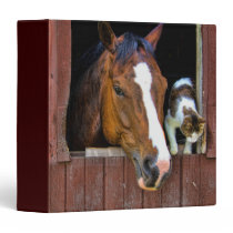Horse and Cat 3 Ring Binder