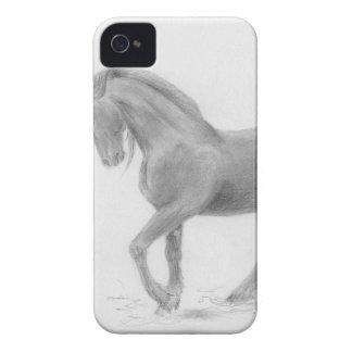 horse-and-cat-friends-pencil-art-gunilla-wachtel-1 iPhone 4 case