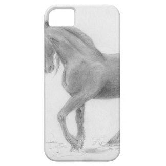 horse-and-cat-friends-pencil-art-gunilla-wachtel-1 iPhone SE/5/5s case