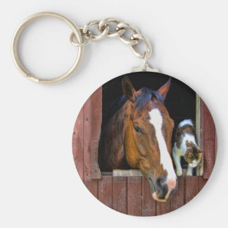 Horse and Cat Key Chain