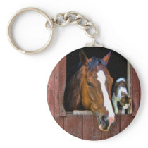 Horse and Cat Keychain