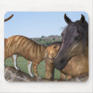 Horse and Cat Mousepad - Love Thy Neigh-Purr