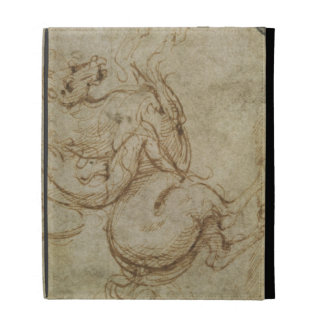 Horse and Cavalier (pen and ink on paper) iPad Cases