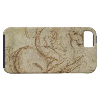 Horse and Cavalier (pen and ink on paper) iPhone SE/5/5s Case