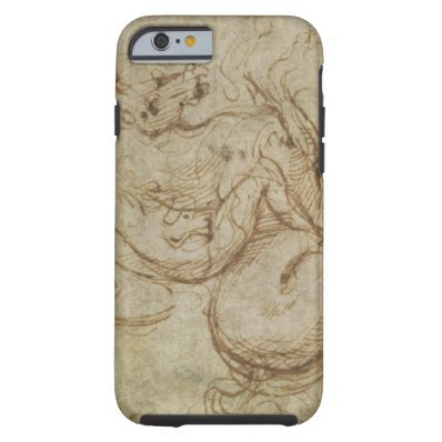Horse and Cavalier  pen and ink on paper  Tough iPhone 6 Case