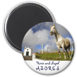 Horse and chapel 2 inch round magnet