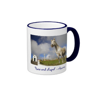Horse and chapel coffee mugs