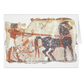 Horse and Chariot Greeting Card