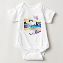 Horse and Cloud Baby Bodysuit