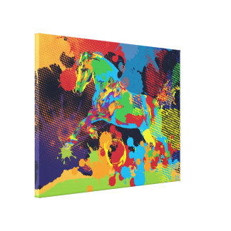 Horse and colors gallery wrap canvas