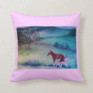Horse and colt painting pillows