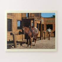 Horse and cowboy jigsaw puzzle