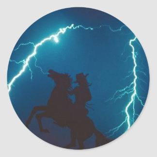 Horse and Cowboy Sticker
