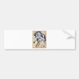 Horse and dog by Franz Marc Bumper Sticker