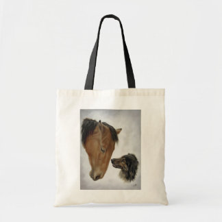 Horse and Dog Canvas Bag