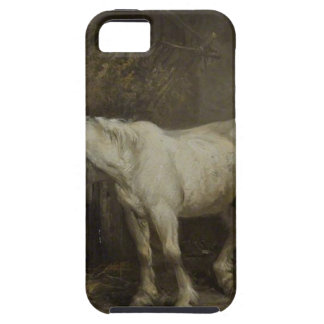 Horse and Dog in a Stable by George Morland iPhone SE/5/5s Case