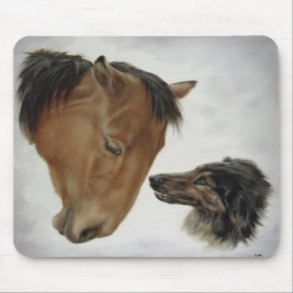 Horse and Dog Mousepad