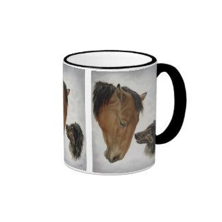 Horse and Dog Mug in Black