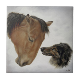 Horse and Dog Tile