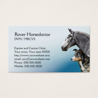 Horse and dog vet appointment business card