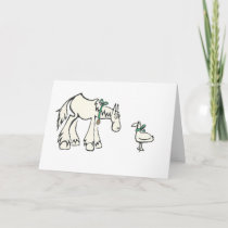 Horse and Duck Custom Message Card