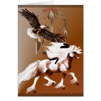 Horse and Eagle Card