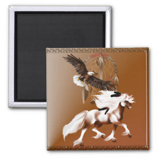 Horse and Eagle Magnet