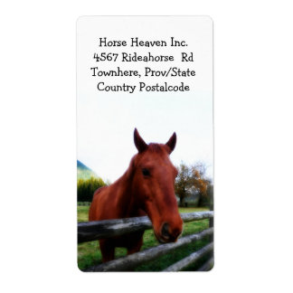 Horse and Farm Fence Shipping Label