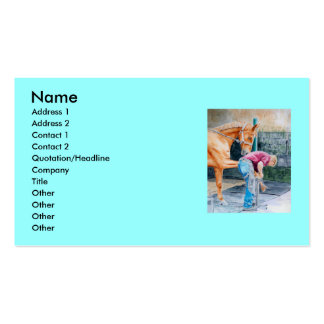 Horse and Farrier Double-Sided Standard Business Cards (Pack Of 100)