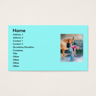Horse and Farrier Business Card