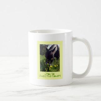Horse and flowers coffee mug