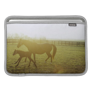 Horse and foal running in pasture MacBook sleeve