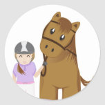 Horse and girl - Girl and horse