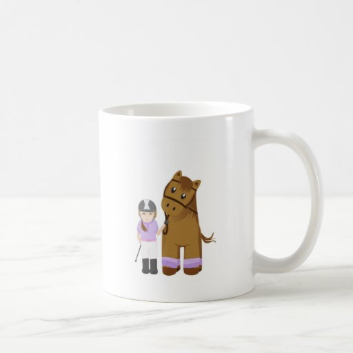 Horse and girl - Girl and horse Classic White Coffee Mug