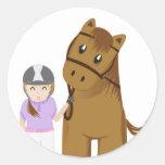 Horse and girl - Menina e cavalo Adesivos