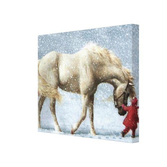 Horse and Girl Wrapped Canvas