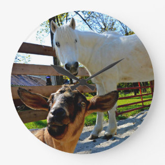 Horse and Goat Clock