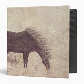 Horse and Groom in Winter 3 Ring Binder
