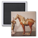Horse and groom, Tang Dynasty 2 Inch Square Magnet