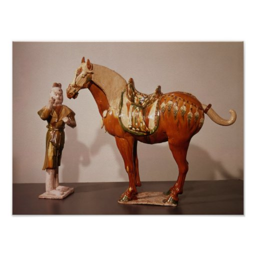 Horse and groom, Tang Dynasty Poster