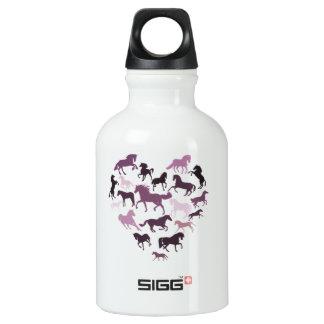 Horse and heart Aluminum Aluminum Water Bottle