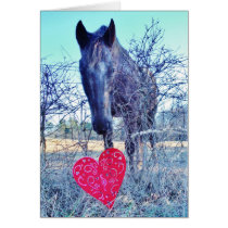 Horse and  Heart Card