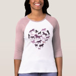 Horse and Heart Tshirt- Pink Dresses