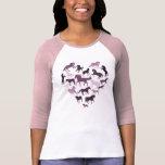 Horse and Heart Tshirt- Pink Tees