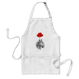 Horse and Hearts Adult Apron