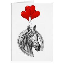 Horse and Hearts Card