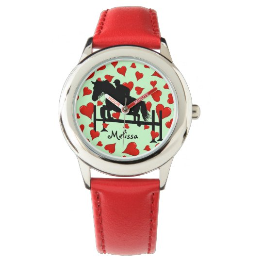 Horse and Hearts Watch
