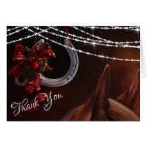 Horse and Horseshoe Christmas Holiday Thank You