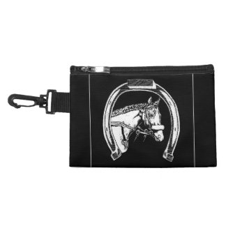 Horse and Horseshoe Scratch Art Accessory Bag